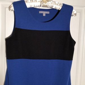 NY Collection dress sz.med.black and dark blue. B7